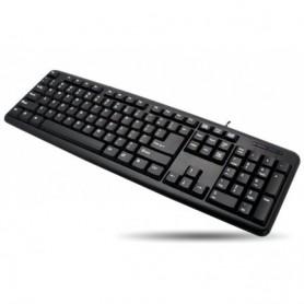 Techly Tastiera 105 tasti USB Standard, colore Nero (IDATA 955-UBK)
