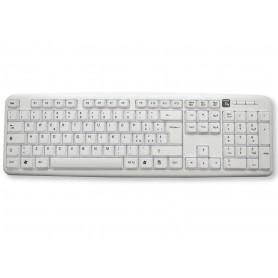 Techly Tastiera 105 tasti USB Standard, colore Bianco (IDATA 955-UWH)