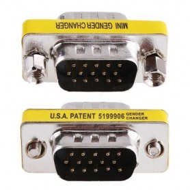 Mini Gender Changer VGA DB 15 poli HD M/M
