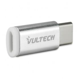 VULTECH ADATTATORE ADP-01 MICRO USB 2.0 TO TYPE C - ALLUMINIO