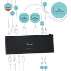 i-tec USB 3.0 / USB-C Dual Display Docking Station + Power Delivery 65W