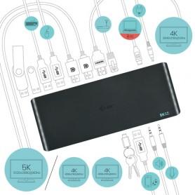 i-tec USB 3.0 / USB-C / Thunderbolt 3, 3x 4K Docking Station + Power Delivery 135W