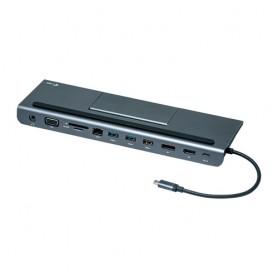 i-tec Metal C31FLATDOCKPDPLUS replicatore di porte e docking station per notebook Cablato USB 3.0 (3.1 Gen 1) Type-A Grigio