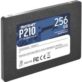 """SSD PATRIOT 256GB P210 2.5"""" SATA3 READ:510MB/WRITE:440 MB/S - P210S256G25 - GAR. 3 ANNI"""