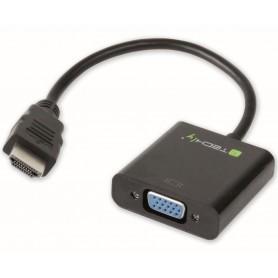 Techly Cavo Convertitore Adattatore da HDMI a VGA con Audio (IDATA HDMI-VGA2A)