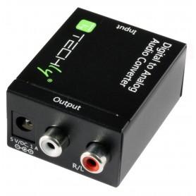 Techly Convertitore Audio da digitale SPDIF ad analogico (IDATA SPDIF-3)