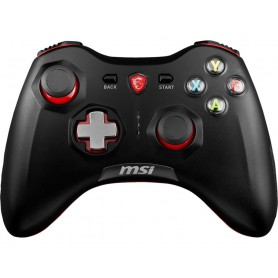 MSI CONTROLLER GAMING FORCE GC30 WIRELESS/WIRED USB, CAVO 2MT, PC-PS3-ANDROID, COLORE NERO