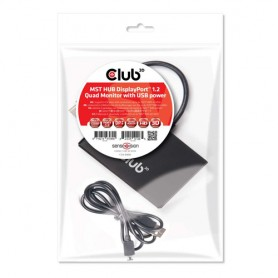 CLUB3D Multi Stream Transport Hub DisplayPort 1.2 Quad Monitor USB Powered