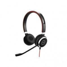 """Cuffia professionale Jabra EVOLVE 40 MS Duo USB+Jack, Cancellazione di rumore,USB,tasto """"Mute"""", Busylight, Certificata Microsoft"""
