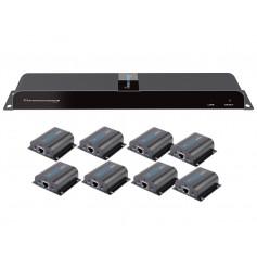 Extender Splitter HDMI 1x8 con IR su Cavo Cat. 6 fino a 40m