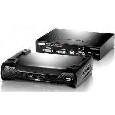 Extender KVM USB con 2 DVI over IP KE6940