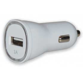 Techly Caricatore da Auto 1p USB con uscita 5V / 1Ah Bianco (IUSB2-CAR2-1A1P)