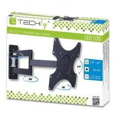 Techly Supporto a muro per TV LED LCD 19-37'' inclinabile 3 snodi nero (ICA-LCD 2903)
