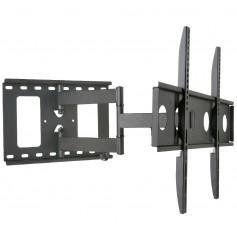 Techly Supporto a Muro per TV LED LCD 32-65'' Estensibile Slim Full-Motion