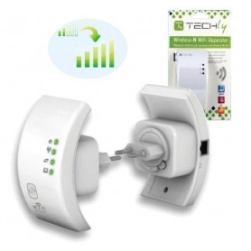 Techly Ripetitore Wireless 300N (Range Extender) con WPS (I-WL-REPEATER)