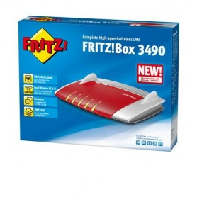 AVM FRITZ!Box 3490 International Dual-band (2.4 GHz/5 GHz) Gigabit Ethernet Rosso, Bianco router wireless