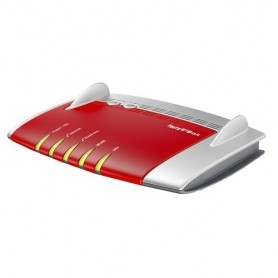 AVM FRITZ!Box 7490 International Dual-band (2.4 GHz/5 GHz) Gigabit Ethernet Rosso, Argento router wireless