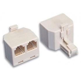 Accoppiatore telefonico duplex 6P6C M a 2x 6P4C F
