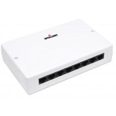 Box 8 Porte UTP per Connessioni di Rete Cat. 5E Bianco