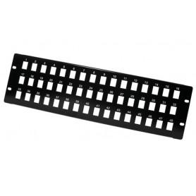 Pannello Patch Modulare 48 posti 3 HE Nero