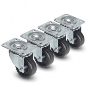 Kit 4 Ruote a 4 Punti di Fissaggio per Armadi Server Serie Lite