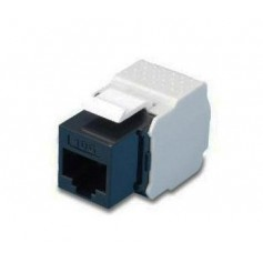 Frutto Keystone RJ45 UTP Cat. 6 Nero Toolfree