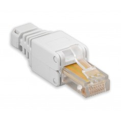 Plug Cat. 5/6 RJ45 Tooless con Copriconnettore