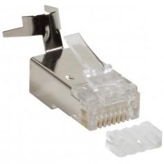 Plug Cat.6 / 6A / 7 / 7A RJ45 Schermato per Cavo Rigido/Flessibile