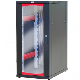 Armadio Server Rack 19'' 600x1000 27 Unita' Nero serie IdealNET