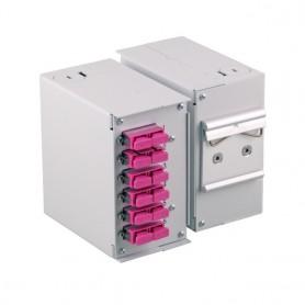 Pannello Frontale 12 Connessioni SC sx/LC dx per Box Ottico