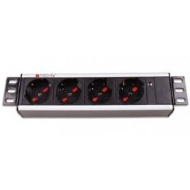 Multipresa universale 4 posti rack 10''