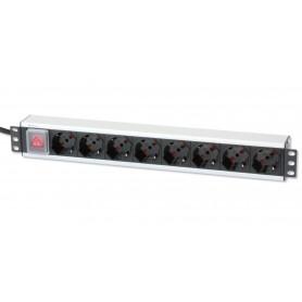 Multipresa per rack 19'' 8 posti con interruttore