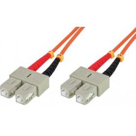 Techly Cavo fibra ottica SC/SC 50/125 Multimodale 1 m OM2 (ILWL D5-B-010)