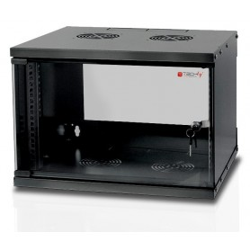 "Techly Armadio Rack 19"" a Muro 6U prof. 450 Nero Assemblato (I-CASE EL-1006B45)"