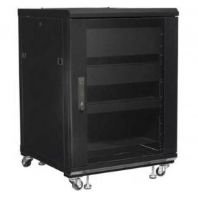 "Techly Armadio Rack 19"" 600x600 15U per Audio Video Nero I-CASE AV-2115BKTY"