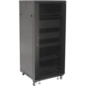 "Techly Armadio Rack 19"" 600x600 27U per Audio Video Nero I-CASE AV-2127BKTY"