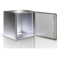 "Techly Armadio Rack 19"" a muro 13U Grigio IP65 Porta cieca I-CASE IP-1340GC"