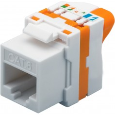 Techly Frutto Keystone RJ45 Cat.6 UTP Tooless IWP-MD C6/UROTT