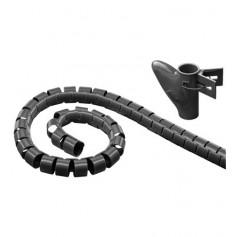 Techly Guaina raccogli cavi Ø cm. 2.5 m 2, 5 + 1 inseritore (ISWT-KIT-BK)
