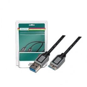 DIGITUS CAVO USB 3.0, A/MICRO B, M/M, NERO, 3MT