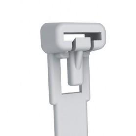 Techly Fascette Fermacavi con Linguetta 150x7,6mm in Nylon 100pz Bianco (ISWT-876150)
