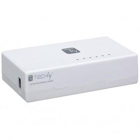 Techly Switch Hub 10/100 Mbps Fast Ethernet 5 Porte (I-SWHUB-050TY)