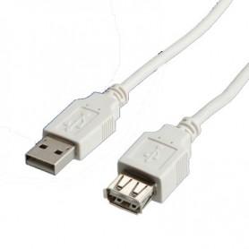 DIGITUS CAVO PROLUNGA USB 2.0, A/A, M/F, 0,80MT