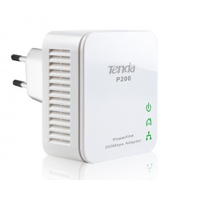 Kit 2 Mini Adattatori Powerline Ethernet 200 Mbps P200