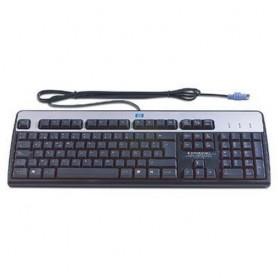 HP PS/2 Standard Keyboard PS/2 Spagnolo Nero, Argento tastiera