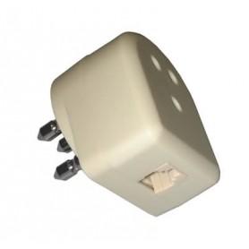 Tripolare telefonica passante con spina modulare 6P4C