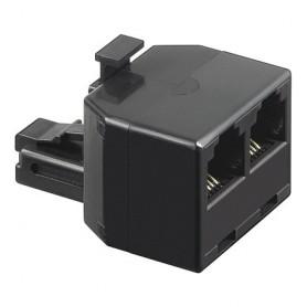 Accoppiatore telefonico duplex 6P6C M a 2x 6P6C F