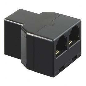 Accoppiatore telefonico duplex 6P4C F a 2x 6P4C F