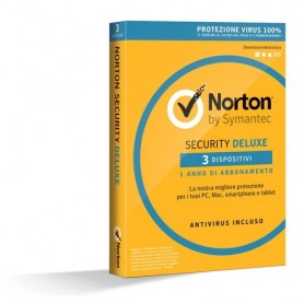 SYMANTEC NORTON SECURITY DELUXE 3.0 Full 1 UTENTE 3 DISPOSITIVI (PC, MAC, Smartphone o Tablet)