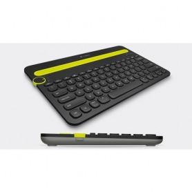 Logitech K480 Bluetooth QZERTY Italiano Nero, Verde tastiera per dispositivo mobile